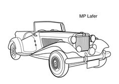 Super car MP Lafer coloring page for kids, printable free