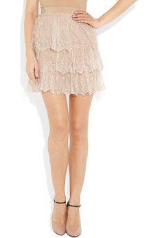 Valentino, tiered lace  mini skirt
