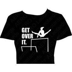 Size 10/12 Youth Medium Unisex Tee Gymnastics Gymnast T-Shirt Shirt Girls Get Over It Tkatchev or Re