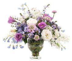 Tall purple arrangement.