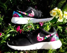 Customized Floral Nike Roshe Runs on Etsy, $179.95
