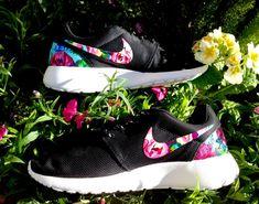 Customized Floral Nike Roshe Runs on Etsy, $179.95