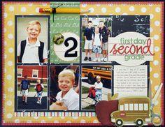 8.5X11 Scrapbook Layout | Scrapbooking Ideas | Back To School Scrapbook Page | Creative Scrapbookre Magazine | #12X12layout #scrapbooking #backtoschool