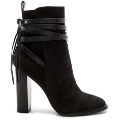 Steve Madden Gaybel Bootie ($150) ❤ liked on Polyvore featuring shoes, boots, ankle booties, booties, fringe bootie, short fringe boots, side zip boots, faux-fur boots and bootie boots