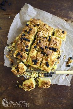 Moist Gluten-free Norwegian Christmas Cake; Vanilla and Light Citrus with almonds and dried blueberries   The Gluten Free Lifesaver