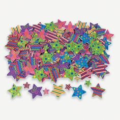 500 Fabulous Foam Self-Adhesive Star Shapes - OrientalTrading.com