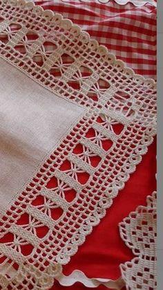 Crochet Boarders, Crochet Edging Patterns, Filet Crochet Charts, Crochet Lace Edging, Crochet Quilt, Tatting Patterns, Thread Crochet, Crochet Doilies, Crochet Diagram