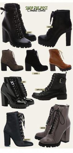 New Boots Outfit Women Combat Ideas Combat Boots Heels, Combat Boot Outfits, High Heel Boots, Heeled Boots, Shoe Boots, Cute Combat Boots, Calf Boots, High Heels, Pretty Shoes