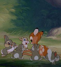 Trumper, His sisters, and Bambi ♡ Disney Pixar, Arte Disney, Disney And Dreamworks, Disney Cartoons, Disney Animation, Disney Magic, Disney Art, Cute Disney Wallpaper, Cartoon Wallpaper