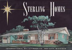 1960s house styles | Sterling Homes - Mid Century House Plans -International Mill & Timber ...