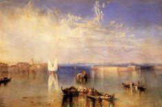 Campo Santo, Venice, 1842 by William Turner. Romanticism. cityscape. Toledo Museum of Art, Toledo, OH, US