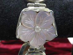 shopgoodwill.com: Marked 925 MotherOfPearl/RoseQuartz Bracelet 53.1g