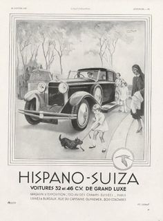 Hispano Suiza 1931 Nurse Children Dog Léon Fauret