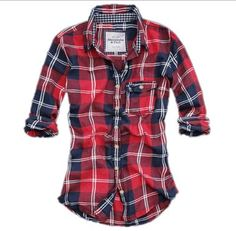 I want a dark red plaid shirt so bad this year!!!! Would be cute under a sweater, too.