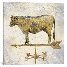 Laurel Foundry Modern Farmhouse American Cow Graphic Art on Wrapped Canvas Size: