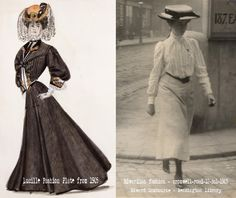 Edwardian-Silhouettes-myth-vs-reality. The actual effect of the straight front or s-bend corset, was an ostensibly erect posture, designed to emphasize the curve of the hips and bust, by pulling back the shoulders, thus raising the chest and curling the hips forward.