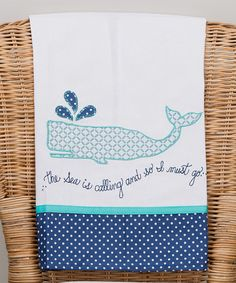 Love this Blue 'The Sea Is Calling' Tea Towel by Glory Haus on #zulily! #zulilyfinds