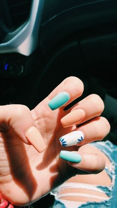 38 unique matte nail designs ideas for this fall - # . - 38 unique matte nail designs ideas for this fall – # … # designs # - Simple Acrylic Nails, Best Acrylic Nails, Acrylic Nail Designs For Summer, Nail Ideas For Summer, Acrylic Nails Designs Short, Ideas For Nails, Fake Nail Ideas, Matte Nail Designs, Light Blue Nail Designs