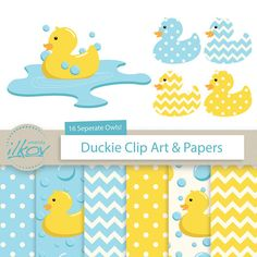 Premium Rubber Duck Clip Art & Digital Paper Set  by AmandaIlkov, $4.99  https://www.etsy.com/listing/193154497/premium-rubber-duck-clip-art-digital?ref=sr_gallery_28&ga_order=date_desc&ga_view_type=gallery&ga_ref=fp_recent_more&ga_page=26&ga_search_type=all