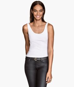 Product Detail | H&M US ..A white tank top always looks good when running errands!
