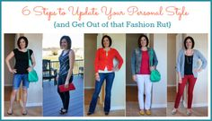 6 Steps to Update Your Personal Style {and get out of that style rut!!!} via @J O-Lynne Shane www.musingsofahousewife.com #fashion #shopping