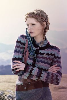 Cashmere Wave Knit Cardigan - Heritage Collection