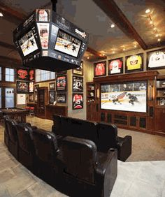 Dear hubby,    If you let me have this Lake House, you may have this.. The ULTIMATE man cave