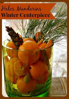 Winter Centerpiece with Halos Mandarins #sponsored #halosfun
