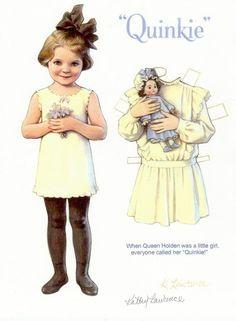 queen holden paper dolls - Google Search