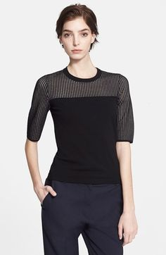 rag+&+bone+'Shelby'+Open+Knit+Yoke+Top+available+at+#Nordstrom