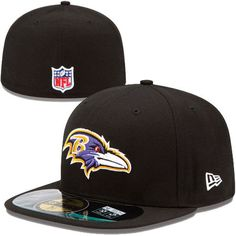 New Era NFL Baltimore Ravens Kids Official On Field 59FIFTY Cap Youth Hat