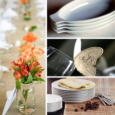 10 Inexpensive Resources to Dress Up the Dinner Table-use birds instead of butterflies for mom