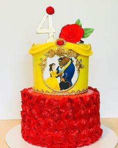 Beauty & The Beast ❤️ Beauty & The Beast ❤️ Belle Birthday Cake, Birthday Pinata, Disney Princess Birthday Party, 5th Birthday, Birthday Ideas, Beauty And The Beast Cake Birthdays, Beauty And Beast Birthday, Beauty And The Beast Theme, Princess Belle Cake