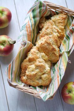 Apple Cheddar Scones. Pair with your morning coffee or enjoy as a snack. The play of sweet and savory makes for the perfect scone.