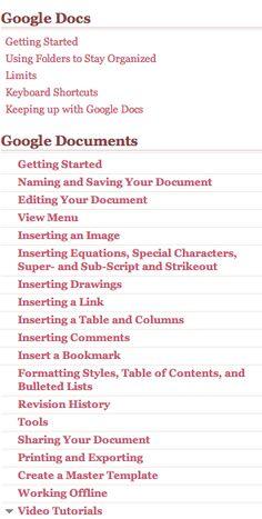 one stop shop for google docs tutorials