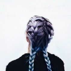 blue, breads, colored hair, violet