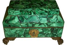 Antique Russian Malachite Box