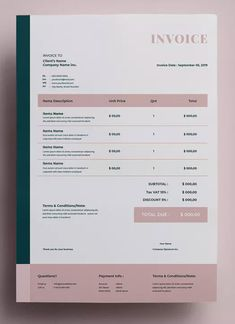 AFR - Invoice by adilbudianto on Envato Elements Invoice Layout, Invoice Design Template, Brochure Layout, Brochure Design, Templates, Freelance Invoice Template, Corporate Brochure, Brochure Template, Worksheets