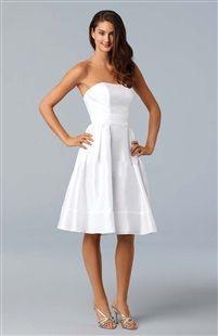 A-line Strapless Knee-length Sleeveless Bridesmaid Dresses