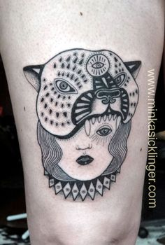 MINKA SICKLINGER jaguar/woman tattoo