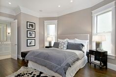 Love everything in this bedroom. *except the cow skin (rug)