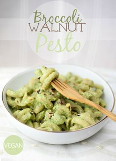 Produce On Parade - Broccoli Walnut Pesto - I didn't have basil or miso paste, so I used kale and GF tamari. I should have added a bit more flavour to the dish, but still quite good. Will make again :)