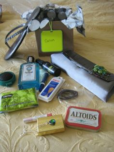 Bridesmaid gift. Things they can use on the big day, and a clutch to use again after!