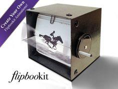 FlipBooKit - Mechanical Flipbook Art and Kit by shinymind, via Kickstarter.