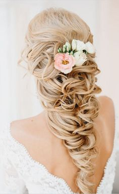 Glamorous wedding hairstyle.. Beautiful braid