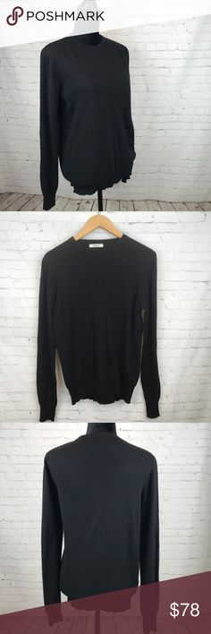 Crossley Cashmere Blend Black Crew Neck Sweater Crossley Cashmere Blend Black Crew Neck Sweater Size Medium With a classic silhouette and luxe feel, this cashmere blend sweater will become your new go to.  Made in Italy with a blend of cashmere, angora, and merino wool, this sweater will last for many seasons.  Preowned from a smoke free home, in great used condition. Check out the other items in my closet and create your own custom bundle! Crossley Sweaters Crew & Scoop Necks