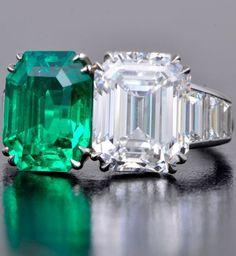 Art deco cartier. Colombian emerald ring.
