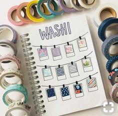 Washi tape ideas for bullet journal you don't want to miss! Find out different ways on how to use washi tape to create pretty (yet still useful) bujo layout Bullet Journal Inspo, Bullet Journal Washi Tape, Bullet Journal Themes, Bullet Journal Events, Bullet Journal Year At A Glance, Bullet Journal Boxes, Bullet Journal For Kids, Bullet Journal Materials, Journal Layout
