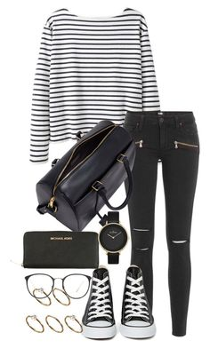 """Unbenannt #1257"" by tyra482 ❤ liked on Polyvore featuring Wood Wood, Paige Denim, Converse, Yves Saint Laurent, MICHAEL Michael Kors, ASOS, Linda Farrow and Skagen"