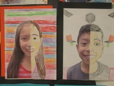 """Seeing Symmetry"" Scholastic:  Have your students combine measurement and geometry skills to create these beautiful, symmetrical self-portraits."